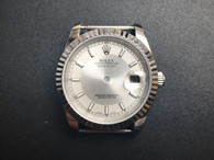 Steel Rolex 116234 DateJust 36mm Watch Set  With Fluted Bezel And Silver+White Dial Fit ETA 2824 Movement
