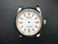 New Style Of Steel Rolex Milgauss 39mm Watch Set  With Smooth Bezel And White Dial Fit ETA 2824 Movement