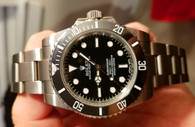 Steel Black Rolex 114060 Submariner Watch Set In Higher Quality With Black Ceramic Bezel And Super Luminova Without Date Fit ETA 2836 Movement