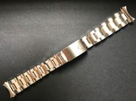 Signed Solid Stainless Steel 19mm Vintage Rivet Style Quality Watch Band Bracelet Strap for Vintage 34mm Tudor Watch Case