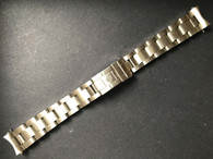 Steel All Brushed 17mm Oyster SS Quality Watch Bracelet With Flip-Lock Clasp Marked Rolex Logo