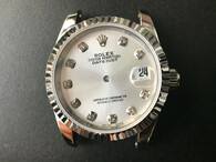 Steel Ladies Rolex 31mm DateJust Watch Set  With fluted Bezel And Silver Dial Has CZ Rhinestones And Jubilee Watch Band Fit ETA 2671 Movement
