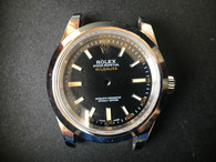 New Style Of Steel Rolex Milgauss 40mm Watch Set  With Smooth Bezel And Black Dial Fit ETA 2824 Movement