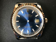 2-tone Rolex 116233 DateJust 36mm Watch Set With Golden Fluted Bezel  And 10K Gold Filled 2-tone Jubile band And 10K gold filled Golden Crown And Blue Dial Fit ETA 2824 Movement