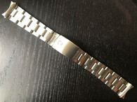 Signed Lighter 19mm Stainless Steel All Brushed Oyster Quality Watch Bracelet Band Strap With Folded Holow Center Links And 557 End Pieces For Vintage 34mm Rolex Watch Case