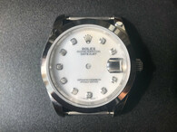 Steel Rolex 116234 DateJust 36mm Watch Set  With Smooth Bezel And Mother Of Pearl White Dial Fit ETA 2824 Movement