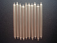 20 Pcs 1.78mm Steel 19mm Spring Bar Pins For Watch Case With Drilled Through Holes On the 19mm Lug