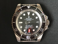 Steel Rolex Deepsea See-dweller Watch Set With Black Ceramic Bezel And Black Dial Fit ETA 2824 Movement