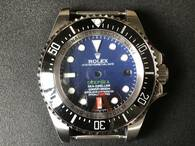 Steel Rolex Deepsea See-dweller Watch Set With Black Ceramic Bezel And Black-Blue Dial Fit ETA 2824 Movement