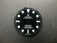 29mm 114060 Glossy Black Submariner Dial Marked Rolex Symbol And Has Super Blue Luminova For Mens Watch Without Date Window Fit ETA 2836 Or 2824 Or MIYOTA 8215 Or DG 2813 Automatic Movement