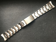 Signed Lighter 19mm Stainless Steel All Brushed Oyster Quality Watch Bracelet Band Strap With Folded Holow Center Links And 557 End Pieces For Vintage 34mm Tudor Prince Date Watch Case