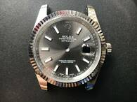 New Style Of Steel Rolex 41mm DateJust Watch Set With Fluted Bezel And Rhodium Dial Has Luminous Sticks Fit ETA 2824 Movement