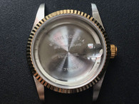 TUDOR Signed Vintage Style of 36mm Stainless 2-tone PRINCE Day-Date Watch Case With Golden Fluted Bezel And 20mm Lugs Size Fit ETA 2834 Movement And Dial In 28.5 mm