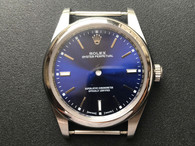 New Style Of 39mm Steel Rolex 114300 Oyster PerPetual Watch Set  With Smooth Bezel And Blue Dial Fit ETA 2824 Movement