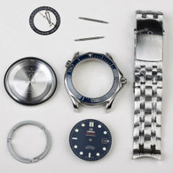 Steel Omega Seamaster Watch Set From MP Factory With Blue Bezel And Blue Dial Fit ETA 2824 Movement