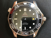 Steel Omega 007 Seamaster Watch Set With Black Bezel And Black Dial Fit ETA 2824 Movement
