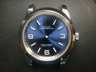 New Style Of Steel Rolex 214270 Explorer 40mm Watch Set  With Smooth Bezel And Blue Dial Fit ETA 2824 Movement
