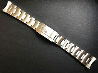 19mm Solid stainless Steel All Brushed Oyster Quality Watch Bracelet Band Strap With Branded Hidden Clasp For Vintage 34mm Rolex Watch Case