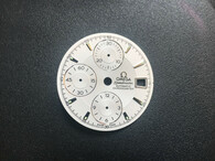 30mm White OMEGA Speedmaster Dial  For Mens Watch Fit Chinese 7750 Automatic Movement