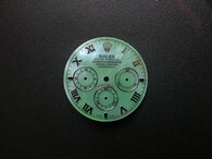 29mm Mother Of Pearl Green Dial Marked Rolex Symbol With Silver Roman Numerals For Mens DAYTONA Watch Fit Chinese 7750 Automatic Movement