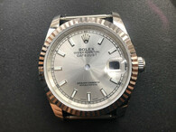 Steel Rolex 116234 DateJust 36mm Watch Set  With Fluted Bezel And Silver Dial Fit ETA 2824 Movement
