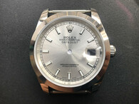 Steel Rolex 116234 DateJust 36mm Watch Set  With Smooth Bezel And Silver Dial Fit ETA 2824 Movement