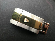 16mm Rolex Signed Stainless Steel Gold Alloy Plated 2-tone Hidden Clasp For New Style Of Mens 20mm Steel Oyster Watch Band Bracelet