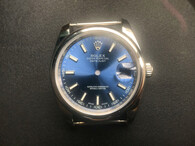 Steel Rolex 116234 DateJust 36mm Watch Set With Domed Bezel And Blue Dial Has Small Roman Numerals Fit ETA 2824 Movement