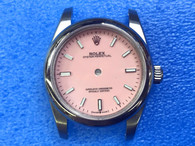 Ladies Newes Style Of Steel Rolex 31mm Oyster Perpetual Watch Set  With Domed Bezel And Pink Dial And Oyster Watch Band Fit ETA 2671 Movement