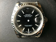 Steel Rolex 116234 DateJust 36mm Watch Set With Fluted Bezel And Black Dial Has Small Arabic Numerals Fit ETA 2824 Movement
