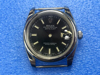Steel Rolex 116234 DateJust 36mm Watch Set With Domed Bezel And Black Dial Has Small Arabic Numerals Fit ETA 2824 Movement