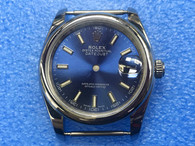 Steel Rolex 116234 DateJust 36mm Watch Set With Domed Bezel And Blue Dial Has Small Arabic Numerals Fit ETA 2824 Movement