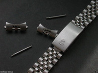 Signed 17mm Stainless Steel Jubilee Style Quality Watch Band Bracelet Strap For The Vintage Midsize Rolex Watch Case