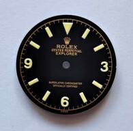 Vintage Explorer Gold Gilt Dial Marked Rolex Symbol for DG ETA MIYOTA Dial 29mm Yellow Lume
