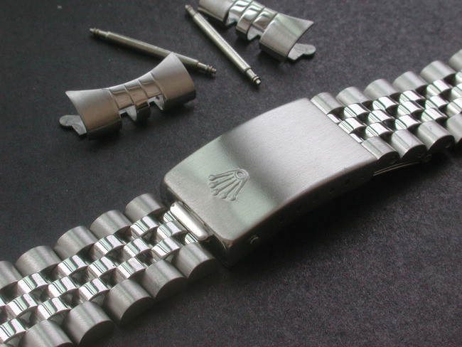 Signed 20mm Stainless Steel Jubilee Style Watch Band Bracelet Strap For  Vintage 36mm ROLEX DATEJUST Watch