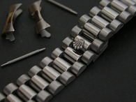 20mm Signed Stainless Steel President Watch Band Bracelet Strap With Curved End Pieces For Vintage 36mm ROLEX DATEJUST Watch