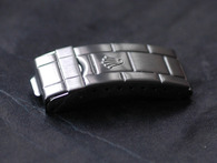 Rolex Signed Stainless Steel All Brushed Flip-Lock Clasp for Vintage Style Of Mens 20mm Submariner Oyster Watch Band Bracelet