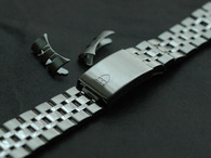 Signed 19mm Solid Stainess Steel Prince Style Quality Watch Band Bracelet Strap For 34mm Tudor Oyster Date Watch Case