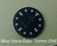 Vintage Submariner Blue Tudor Snowflake Snow Flake DG ETA MIYOTA Dial 26mm