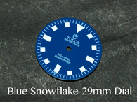 Vintage Submariner Blue Tudor Snowflake Snow Flake DG ETA Dial 29mm