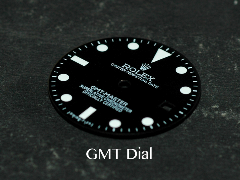 29mm Glossy Sub GMT Master Dial Marked Rolex Symbol fit ETA 2893 DG 3804  movement For 3 Hands