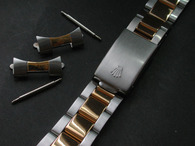 Signed 20mm 2-Tone Oyster Quality Watch Band Bracelet Strap for Vintage 36mm Rolex Explorer Watch Case