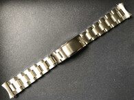Signed Solid Stainless Steel 19mm Vintage Rivet Style Quality Watch Band Bracelet Strap for Vintage 34mm Rolex Watch Case
