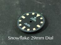 Vintage Tudor Submariner Snowflake Snow Flake DG ETA MIYOTA Dial 29mm