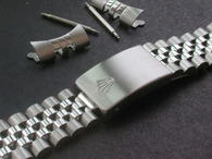 Signed 19mm Stainless Steel Jubilee Style Quality Watch Band Bracelet Strap for Mens Old 34mm ROLEX Watch Case