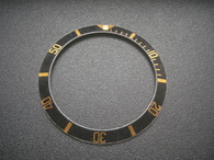 Vintage Style Of Black Aluminum Bezel Insert With Golden Numbers For ROLEX 40mm 2-tone Or Golden Submariner Watch