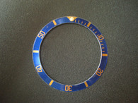Vintage Style Of Blue Aluminum Bezel Insert With Golden Numbers For Rolex 40mm Submariner Watch
