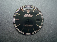 28.5mm Black Dial Marked Rolex Symbol With Silver Sticks For Mens DAY-DATE Watch Fit ETA 2836 Or DG 2813 Automatic Movement