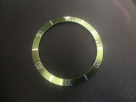 Vintage Style Of Green Aluminum Bezel Insert With Silver Numbers For ROLEX 40mm Submariner Watch