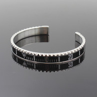 Silver Black Titanium Steel Rolex Watch Bezel Wrist Bangle Bracelet Speedometer Submariner Sub Oyster